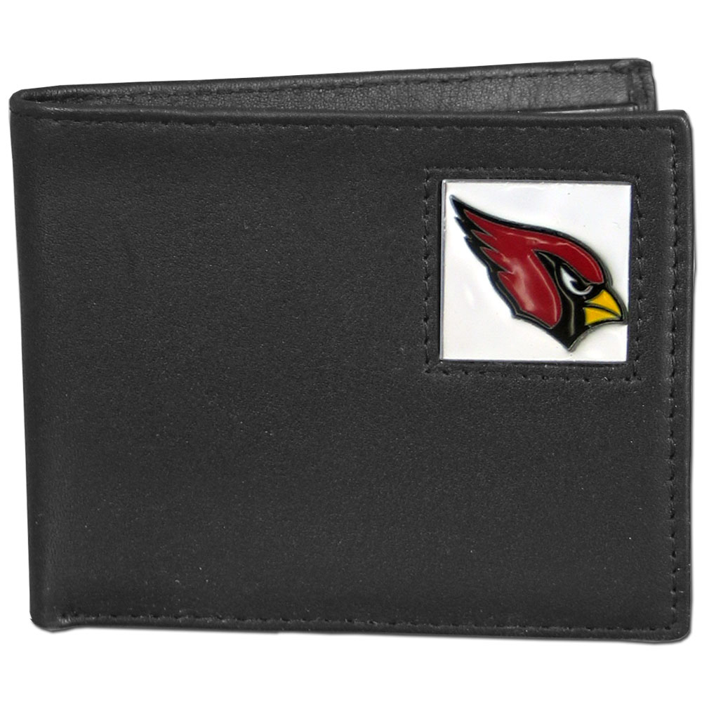 NFL Bifold Wallet in a Window Box - Arizona Cardinals - Our Executive Bifolds are made of high quality fine grain leather with a sculpted NFL team emblem. Packaged in a  window box. Check out our entire line of  NFL merchandise! Officially licensed NFL product Licensee: Siskiyou Buckle Thank you for visiting CrazedOutSports.com