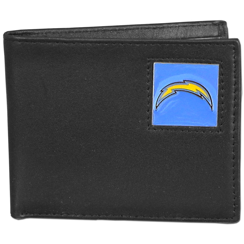 NFL Bifold Wallet in a Window Box - Los Angeles Chargers - Our Executive Bifolds are made of high quality fine grain leather with a sculpted NFL team emblem. Packaged in a  window box. Check out our entire line of  NFL merchandise! Officially licensed NFL product Licensee: Siskiyou Buckle Thank you for visiting CrazedOutSports.com