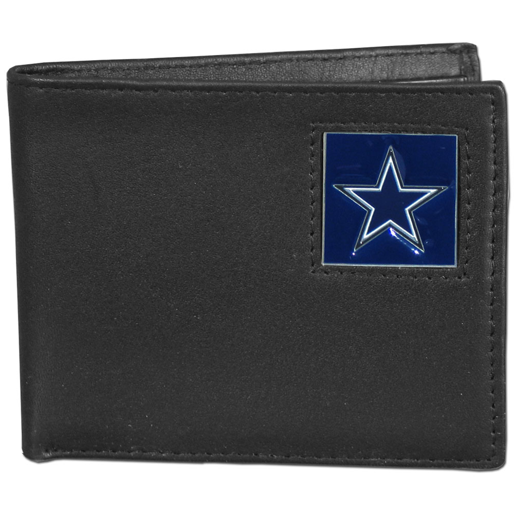 NFL Bifold Wallet in a Window Box - Dallas Cowboys - Our Executive Bifolds are made of high quality fine grain leather with a sculpted NFL team emblem. Packaged in a  window box. Check out our entire line of  NFL merchandise! Officially licensed NFL product Licensee: Siskiyou Buckle .com