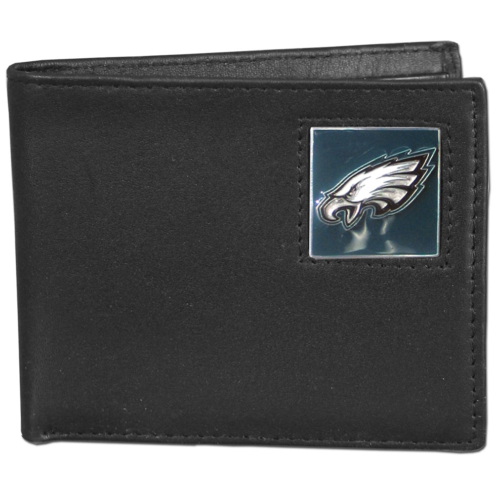 NFL Bifold Wallet in a Window Box - Philadelphia Eagles - Our Executive Bifolds are made of high quality fine grain leather with a sculpted NFL team emblem. Packaged in a  window box. Check out our entire line of  NFL merchandise! Officially licensed NFL product Licensee: Siskiyou Buckle .com