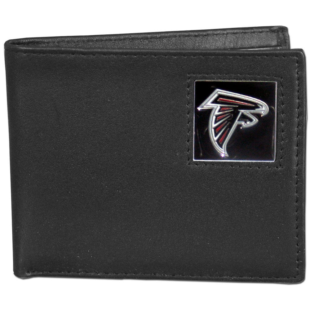 NFL Bifold Wallet - Atlanta Falcons - Our Executive Bifolds are made of high quality fine grain leather with a sculpted NFL team emblem. Packaged in a window box. Check out our entire line of  NFL merchandise! Officially licensed NFL product Licensee: Siskiyou Buckle .com