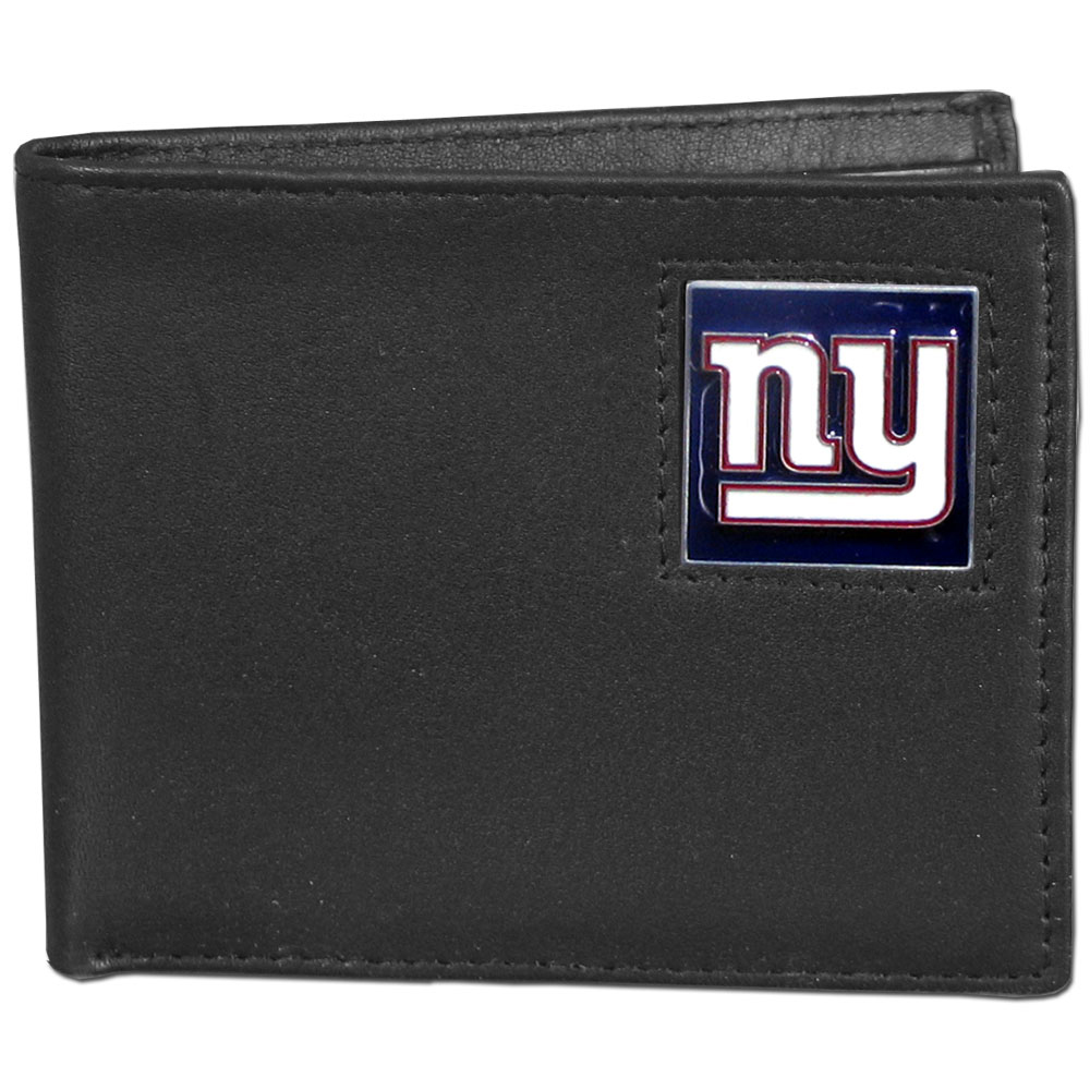 NFL Bifold Wallet in a Window Box - New York Giants - Our Executive Bifolds are made of high quality fine grain leather with a sculpted NFL team emblem. Packaged in a  window box. Check out our entire line of  NFL merchandise! Officially licensed NFL product Licensee: Siskiyou Buckle .com