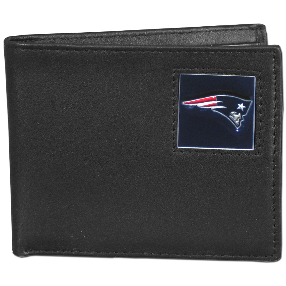 NFL Bifold Wallet -  New England Patriots - Our Executive Bifolds are made of high quality fine grain leather with a sculpted NFL team emblem. Check out our entire line of  NFL merchandise! Officially licensed NFL product Licensee: Siskiyou Buckle .com