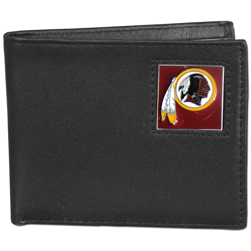 NFL Bifold Wallet in a Window Box - Washington Redskins - Our Executive Bifolds are made of high quality fine grain leather with a sculpted NFL team emblem. Packaged in a  window box. Check out our entire line of  NFL merchandise! Officially licensed NFL product Licensee: Siskiyou Buckle Thank you for visiting CrazedOutSports.com