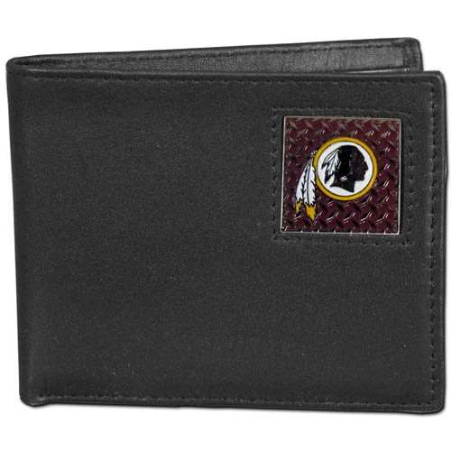 Washington Redskins Gridiron Leather Bi-fold Wallet - Officially licensed NFL Washington Redskins fine grain leather bi-fold Washington Redskins wallet features numerous card slots, large billfold pocket and flip up window ID slot. This quality Washington Redskins wallet has a gridiron style enameled Washington Redskins emblem on the front. Packaged in an NFL windowed box. Officially licensed NFL product Licensee: Siskiyou Buckle Thank you for visiting CrazedOutSports.com