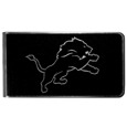 Detroit Lions Black and Steel Money Clip
