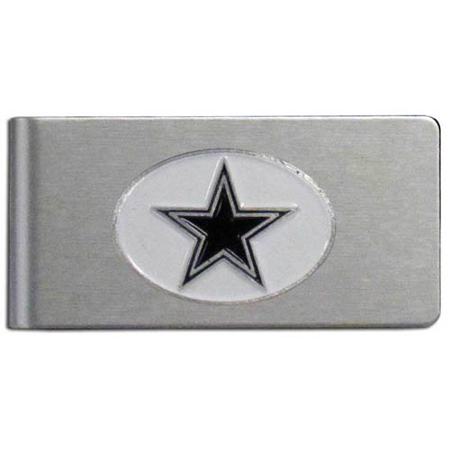Dallas Cowboys Brushed Money Clip - This quality NFL Dallas Cowboys money clip has a brushed metal finish and features a fully cast and hand enameled Dallas Cowboys team logo. Officially licensed NFL product Licensee: Siskiyou Buckle .com