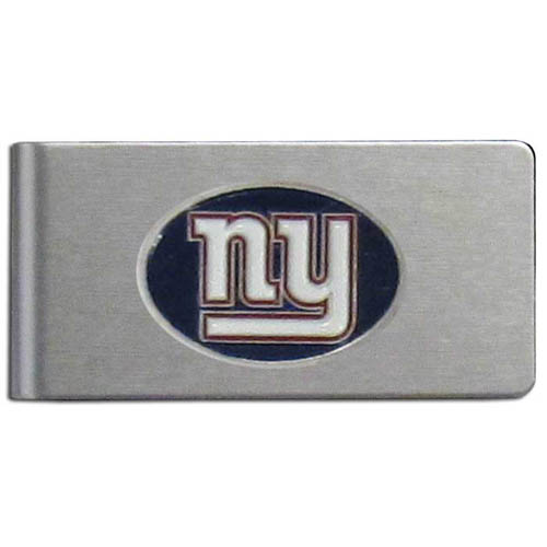 New York Giants Brushed Money Clip - This quality NFL New York Giants money clip has a brushed metal finish and features a fully cast and hand enameled New York Giants team logo. Officially licensed NFL product Licensee: Siskiyou Buckle .com
