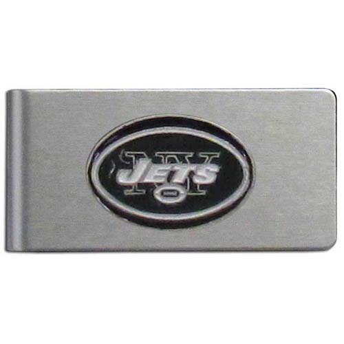 New York Jets Brushed Money Clip - This quality NFL New York Jets money clip has a brushed metal finish and features a fully cast and hand enameled New York Jets team logo. Officially licensed NFL product Licensee: Siskiyou Buckle Thank you for visiting CrazedOutSports.com