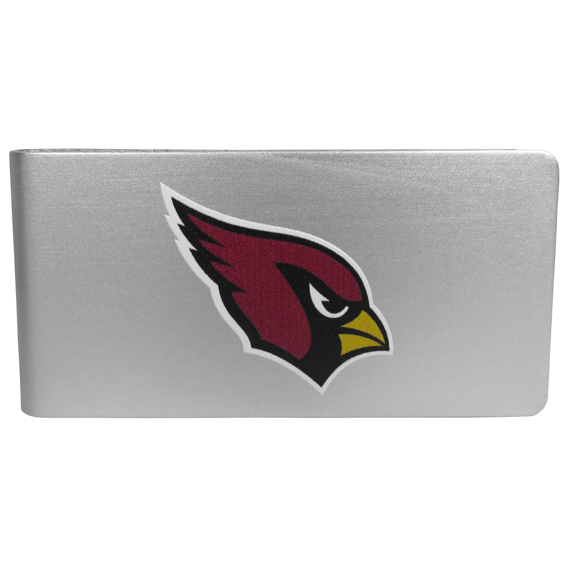Arizona Cardinals Logo Money Clip - Our brushed metal money clip has classic style and functionality. The attractive clip features the Arizona Cardinals logo expertly printed on front.