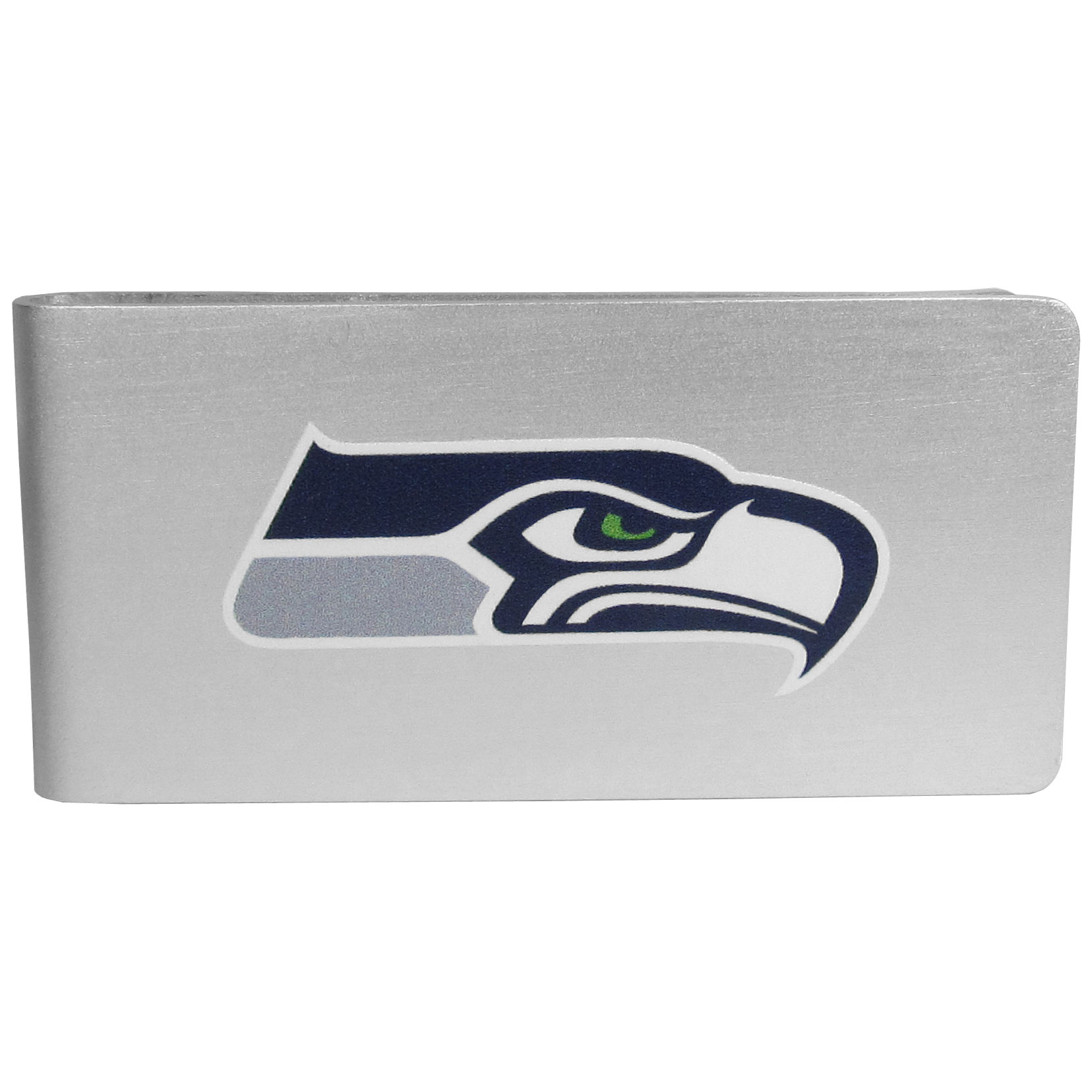 Seattle Seahawks Logo Money Clip - Our brushed metal money clip has classic style and functionality. The attractive clip features the Seattle Seahawks logo expertly printed on front.