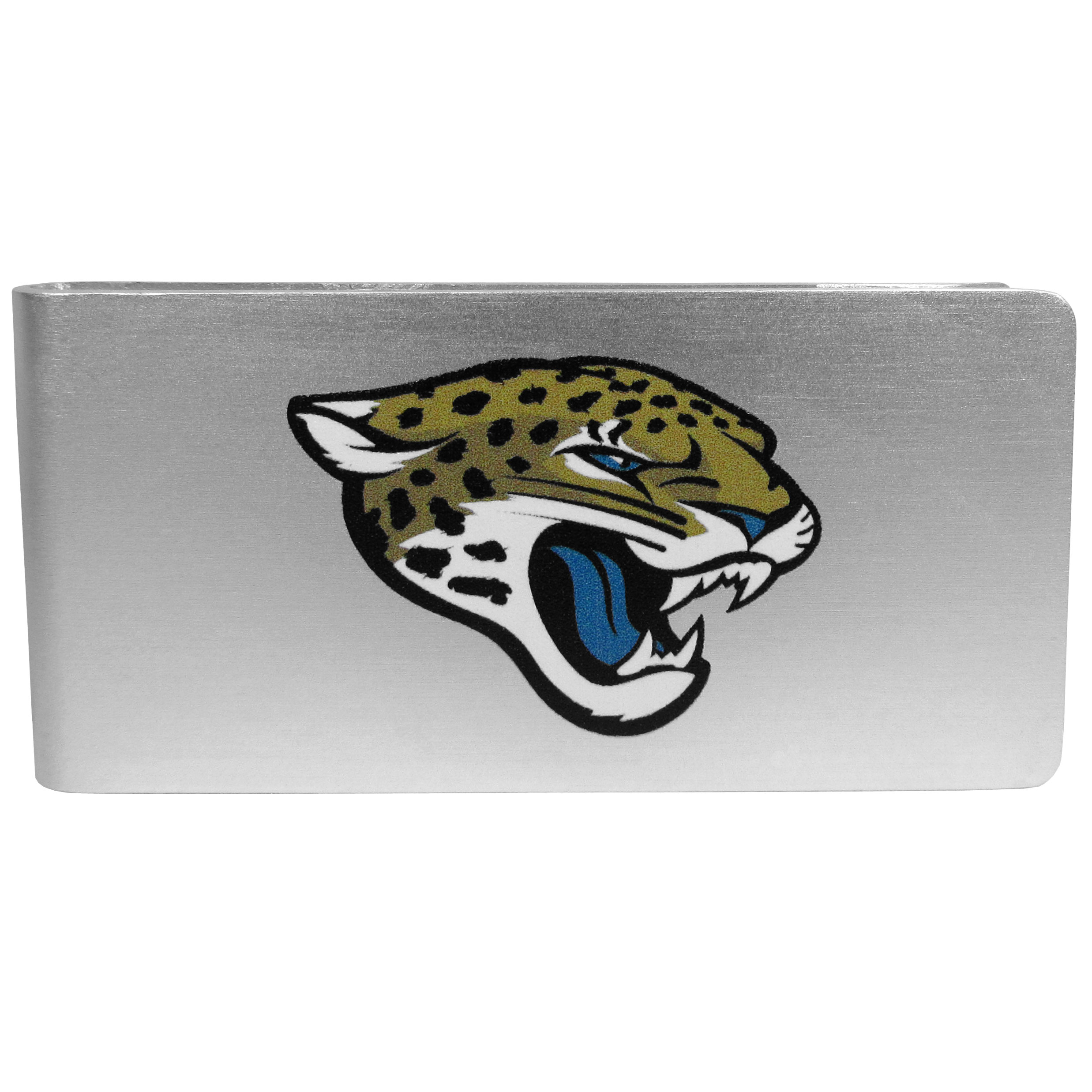 Jacksonville Jaguars Logo Money Clip - Our brushed metal money clip has classic style and functionality. The attractive clip features the Jacksonville Jaguars logo expertly printed on front.