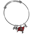 Tampa Bay Buccaneers Charm Bangle Bracelet - Adjustable wire bracelets are all the rage and this Tampa Bay Buccaneers bracelet matches the popular trend with your beloved team. The bracelet features 4 charms in total, each feature exceptional detail and the team charm has enameled team colors.