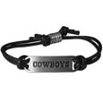 Dallas Cowboys Cord Bracelets - Cord bracelets have been a popular fashion accessory for many years. They offer a classic, subtle way to for a fan to get into the game. Our officially licensed cord bracelets feature a deeply carved Denver Broncos logo on a high quality adjustable cord. Officially licensed NFL product Licensee: Siskiyou Buckle Thank you for visiting CrazedOutSports.com