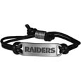 Oakland Raiders Cord Bracelets - Cord bracelets have been a popular fashion accessory for many years. They offer a classic, subtle way to for a fan to get into the game. Our officially licensed cord bracelets feature a deeply carved New York Jets logo on a high quality adjustable cord. Officially licensed NFL product Licensee: Siskiyou Buckle Thank you for visiting CrazedOutSports.com