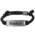 Pittsburgh Steelers Cord Bracelets - Cord bracelets have been a popular fashion accessory for many years. They offer a classic, subtle way to for a fan to get into the game. Our officially licensed cord bracelets feature a deeply carved Oakland Raiders logo on a high quality adjustable cord. Officially licensed NFL product Licensee: Siskiyou Buckle .com