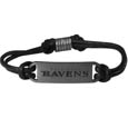 Baltimore Ravens Cord Bracelets - Cord bracelets have been a popular fashion accessory for many years. They offer a classic, subtle way to for a fan to get into the game. Our officially licensed cord bracelets feature a deeply carved New Orleans Saints logo on a high quality adjustable cord. Officially licensed NFL product Licensee: Siskiyou Buckle .com