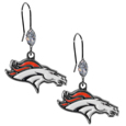 Denver Broncos Crystal Dangle Earrings - Our NFL crystal dangle earrings are the perfect accessory for your game day outfit! The earrings are approximately 1.5 inches long and feature an iridescent crystal bead and nickel free chrome Denver Broncos charm on nickel free, hypoallergenic fishhook posts. Officially licensed NFL product Licensee: Siskiyou Buckle Thank you for visiting CrazedOutSports.com