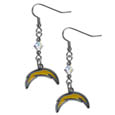 San Diego Chargers Crystal Dangle Earrings - Our NFL crystal dangle earrings are the perfect accessory for your game day outfit! The earrings are approximately 1.5 inches long and feature an iridescent crystal bead and nickel free chrome San Diego Chargers charm on nickel free, hypoallergenic fishhook posts. Officially licensed NFL product Licensee: Siskiyou Buckle .com