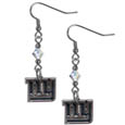 New York Giants Crystal Dangle Earrings - Our NFL crystal dangle earrings are the perfect accessory for your game day outfit! The earrings are approximately 1.5 inches long and feature an iridescent crystal bead and nickel free chrome New York Giants charm on nickel free, hypoallergenic fishhook posts. Officially licensed NFL product Licensee: Siskiyou Buckle .com