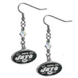 New York Jets Crystal Dangle Earrings - Our NFL crystal dangle earrings are the perfect accessory for your game day outfit! The earrings are approximately 1.5 inches long and feature an iridescent crystal bead and nickel free chrome New York Jets charm on nickel free, hypoallergenic fishhook posts. Officially licensed NFL product Licensee: Siskiyou Buckle Thank you for visiting CrazedOutSports.com