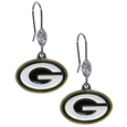 Green Bay Packers Crystal Dangle Earrings - Our NFL crystal dangle earrings are the perfect accessory for your game day outfit! The earrings are approximately 1.5 inches long and feature an iridescent crystal bead and nickel free chrome Green Bay Packers charm on nickel free, hypoallergenic fishhook posts. Officially licensed NFL product Licensee: Siskiyou Buckle Thank you for visiting CrazedOutSports.com