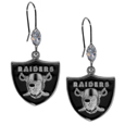 Oakland Raiders Crystal Dangle Earrings - Our NFL crystal dangle earrings are the perfect accessory for your game day outfit! The earrings are approximately 1.5 inches long and feature an iridescent crystal bead and nickel free chrome Oakland Raiders charm on nickel free, hypoallergenic fishhook posts. Officially licensed NFL product Licensee: Siskiyou Buckle Thank you for visiting CrazedOutSports.com