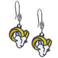 St. Louis Rams Crystal Dangle Earrings - Our NFL crystal dangle earrings are the perfect accessory for your game day outfit! The earrings are approximately 1.5 inches long and feature an iridescent crystal bead and nickel free chrome St. Louis Rams charm on nickel free, hypoallergenic fishhook posts. Officially licensed NFL product Licensee: Siskiyou Buckle .com