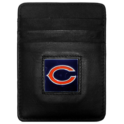 Executive Money Clip/Card Holder - Chicago Bears - Our Executive Money Clip/Card Holders are made of high quality fine grain leather with a sculpted NFL team emblem. Packaged in a window box that can be hung on a peg or stacked on a shelf. Check out our entire line of  NFL merchandise! Officially licensed NFL product Licensee: Siskiyou Buckle .com
