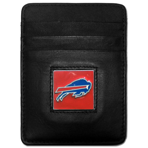 Executive NFL Money Clip/Card Holder - Buffalo Bills - Our Executive Money Clip/Card Holders are made of high quality fine grain leather with a sculpted NFL team emblem. Packaged in a collector's tin. Check out our entire line of  NFL merchandise! Officially licensed NFL product Licensee: Siskiyou Buckle .com
