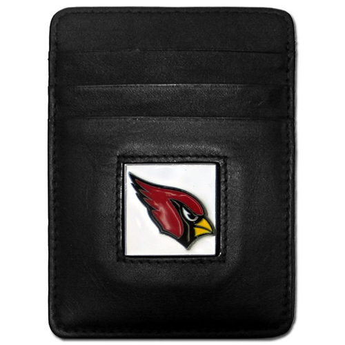 Executive NFL  Money Clip/Card Holder - Arizona Cardinals - Our Executive Money Clip/Card Holders are made of high quality fine grain leather with a sculpted NFL team emblem. Packaged in a window box that can be hung on a peg or stacked on a shelf. Check out our entire line of  NFL merchandise! Officially licensed NFL product Licensee: Siskiyou Buckle Thank you for visiting CrazedOutSports.com