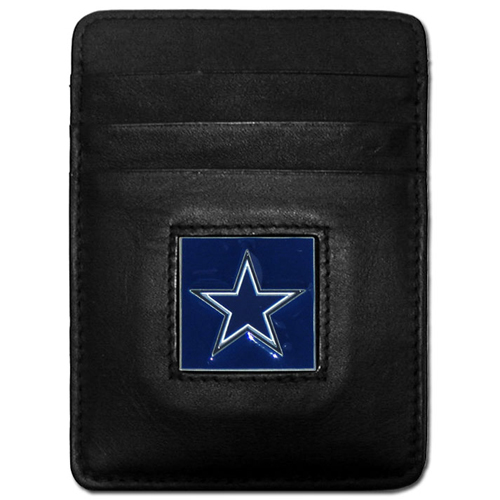 Executive NFL Money Clip/Card Holder - Dallas Cowboys - Our Executive Money Clip/Card Holders are made of high quality fine grain leather with a sculpted NFL team emblem. Packaged in a window box that can be hung on a peg or stacked on a shelf. Check out our entire line of  NFL merchandise! Officially licensed NFL product Licensee: Siskiyou Buckle Thank you for visiting CrazedOutSports.com