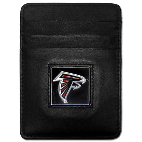 Executive NFL Money Clip/Card Holder - Atlanta Falcons - Our Executive Money Clip/Card Holders are made of high quality fine grain leather with a sculpted NFL team emblem. Packaged in a collector's tin. Check out our entire line of  NFL merchandise! Officially licensed NFL product Licensee: Siskiyou Buckle .com