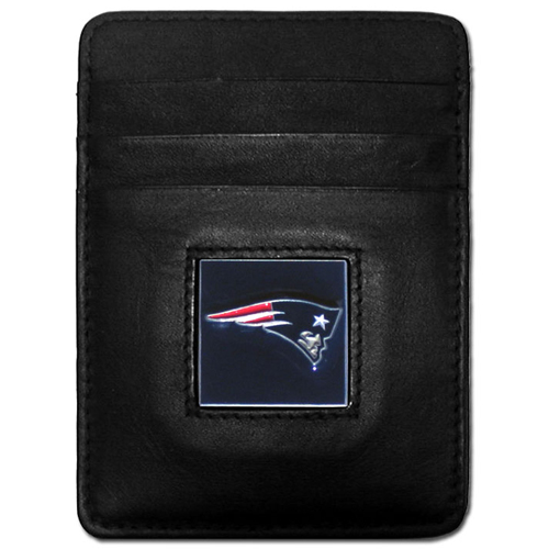 Executive NFL Money Clip/Card Holder - New England Patriots - Our Executive Money Clip/Card Holders are made of high quality fine grain leather with a sculpted NFL team emblem. Packaged in a collector's tin. Check out our entire line of  NFL merchandise! Officially licensed NFL product Licensee: Siskiyou Buckle .com