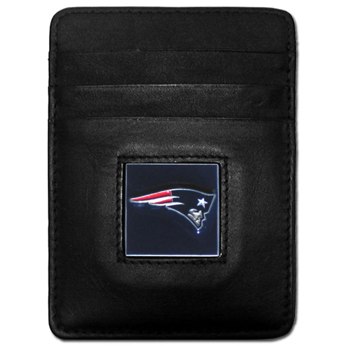 Executive NFL Money Clip/Card Holder - New England Patriots - Our Executive Money Clip/Card Holders are made of high quality fine grain leather with a sculpted NFL team emblem. Packaged in a window box that can be hung on a peg or stacked on a shelf. Check out our entire line of  NFL merchandise! Officially licensed NFL product Licensee: Siskiyou Buckle .com
