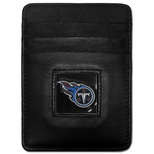 Executive NFL Money Clip/Card Holder - Tennessee Titans - Our Executive Money Clip/Card Holders are made of high quality fine grain leather with a sculpted NFL team emblem. Packaged in a window box that can be hung on a peg or stacked on a shelf. Check out our entire line of  NFL merchandise! Officially licensed NFL product Licensee: Siskiyou Buckle .com