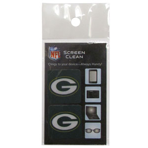 Green Bay Packers Screen Cleaner - Our revolutionary NFL Green Bay Packers screen cleaners cling to the surface of your device with one side and have a safe cleaning surface on the other side. Use them again and again to keep a clean surface on your smart phone, camera, laptop and much much more! Officially licensed NFL product Licensee: Siskiyou Buckle Thank you for visiting CrazedOutSports.com