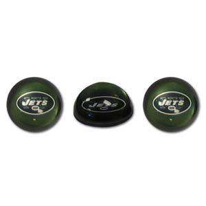 New York Jets Crystal Magnet Set - New York Jets crystal magnet set is a great way to dress up any metal surface. The New York Jets magnets are cut from water clear glass and feature crisp New York Jets graphics that reflect off of the dome create a striking 3D effect from any angle. Officially licensed NFL product Licensee: Siskiyou Buckle Thank you for visiting CrazedOutSports.com