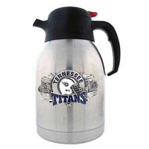 NFL Coffee Carafe - Tennessee Titans - Our NFL 2 liter coffee carafe keeps your favorite drink hot or cold for hours. This two liter style is no longer being manufactured and will be discontinued once inventory is depleted.