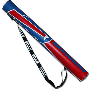 NFL Can Shaft - Buffalo Bills - This NFL can shafts keeps up to 6 cans cold and is as fashionable as it is durable. The heavy duty foam insulated vinyl shaft features a shoulder strap and a zipper that extends the entire length with your favorite team logo.  Officially licensed NFL product Licensee: Siskiyou Buckle .com