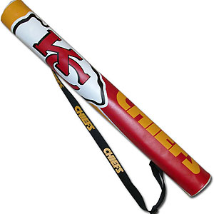 NFL Can Shaft - Kansas City Chiefs - This NFL can shafts keeps up to 6 cans cold and is as fashionable as it is durable. The heavy duty foam insulated vinyl shaft features a shoulder strap and a zipper that extends the entire length with your favorite team logo.  Officially licensed NFL product Licensee: Siskiyou Buckle Thank you for visiting CrazedOutSports.com