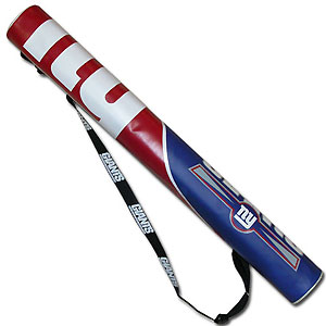 NFL Can Shaft - New York Giants - This NFL can shafts keeps up to 6 cans cold and is as fashionable as it is durable. The heavy duty foam insulated vinyl shaft features a shoulder strap and a zipper that extends the entire length with your favorite team logo.  Officially licensed NFL product Licensee: Siskiyou Buckle Thank you for visiting CrazedOutSports.com