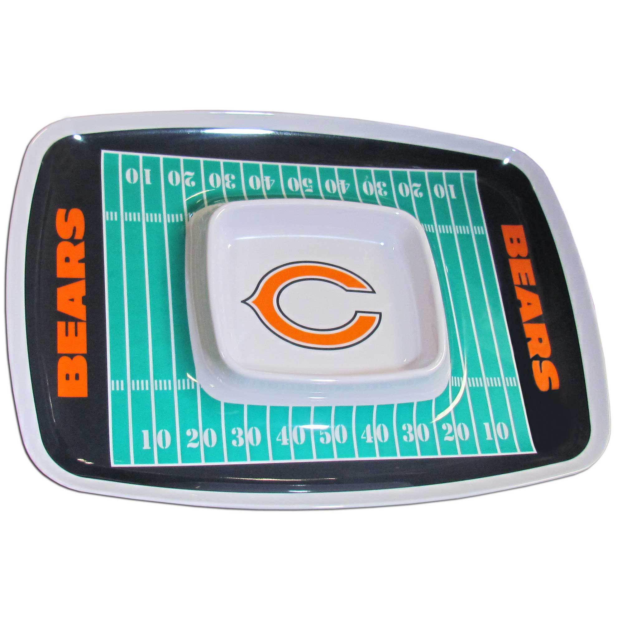 Planet Sports Team Chicago Bears Melamine Chip Amp Dip Tray