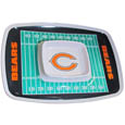 "Chicago Bears Melamine Chip and Dip Tray - Add an extra kick to your game day dip with Siskiyou's Chicago Bears Melamine Chip and Dip Tray! This tray will add that extra touch of team spirit for your watch party or tailgate. 17""x12"" Allows plenty of room for chips, veggies and dip to go around the convenient dip bowl located in the center of the tray.  Tray is Dishwasher safe. Officially licensed NFL product Licensee: Siskiyou Buckle .com"