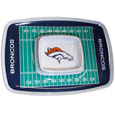 "Denver Broncos Melamine Chip & Dip Tray - Add an extra kick to your game day dip with Siskiyou's Denver Broncos Melamine Chip and Dip Tray! This tray will add that extra touch of team spirit for your watch party or tailgate. 17""x12"" Allows plenty of room for chips, veggies and dip to go around the convenient dip bowl located in the center of the tray.  Tray is Dishwasher safe. Officially licensed NFL product Licensee: Siskiyou Buckle Thank you for visiting CrazedOutSports.com"