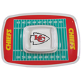"Kansas City Chiefs Melamine Chip & Dip Tray - Add an extra kick to your game day dip with Siskiyou's Chicago Bears Melamine Chip and Dip Tray! This tray will add that extra touch of team spirit for your watch party or tailgate. 17""x12"" Allows plenty of room for chips, veggies and dip to go around the convenient dip bowl located in the center of the tray.  Tray is Dishwasher safe. Officially licensed NFL product Licensee: Siskiyou Buckle Thank you for visiting CrazedOutSports.com"