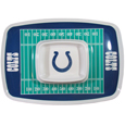 "Indianapolis Colts Melamine Chip & Dip Tray - Add an extra kick to your game day dip with Siskiyou's Chicago Bears Melamine Chip and Dip Tray! This tray will add that extra touch of team spirit for your watch party or tailgate. 17""x12"" Allows plenty of room for chips, veggies and dip to go around the convenient dip bowl located in the center of the tray.  Tray is Dishwasher safe. Officially licensed NFL product Licensee: Siskiyou Buckle Thank you for visiting CrazedOutSports.com"