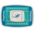"Miami Dolphins Melamine Chip & Dip Tray - Add an extra kick to your game day dip with this officially licensed Miami Dolphins Melamine Chip & Dip Tray ! This Miami Dolphins Melamine Chip & Dip Tray will add that extra touch of team spirit for your watch party or tailgate. 17""x12"" Allows plenty of room for chips, veggies and dip to go around the convenient dip bowl located in the center of the tray.  Tray is Dishwasher safe. Officially licensed NFL product Licensee: Siskiyou Buckle Thank you for visiting CrazedOutSports.com"