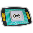 "Green Bay Packers Melamine Chip and Dip Tray - Add an extra kick to your game day dip with Siskiyou's Green Bay Packers Melamine Chip and Dip Tray! This tray will add that extra touch of team spirit for your watch party or tailgate. 17""x12"" Allows plenty of room for chips, veggies and dip to go around the convenient dip bowl located in the center of the tray.  Tray is Dishwasher safe. Officially licensed NFL product Licensee: Siskiyou Buckle .com"