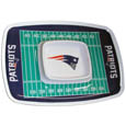 "New England Patriots Melamine Chip & Dip Tray - Add an extra kick to your game day dip with Siskiyou's New England Patriots Melamine Chip and Dip Tray! This tray will add that extra touch of team spirit for your watch party or tailgate. 17""x12"" Allows plenty of room for chips, veggies and dip to go around the convenient dip bowl located in the center of the tray.  Tray is Dishwasher safe. Officially licensed NFL product Licensee: Siskiyou Buckle .com"